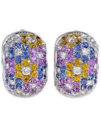 Pasquale Bruni - 18k 6.77 Ct. Tw. Diamond & Sapphire Drop Earrings - Lyst
