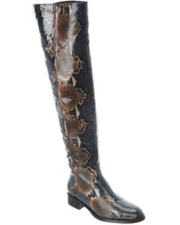 Aquatalia Nahla Weatherproof Leather Over-the-knee Boot - Brown
