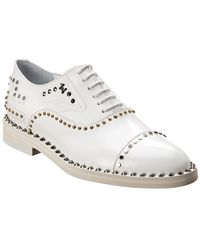 Zadig & Voltaire Youth Clous Leather Derby Shoe - White
