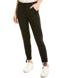 Vince Camuto Lace-up Cuff D-luxe Trousers - Black