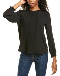 Cece By Cynthia Steffe Pintucked Blouse - Black