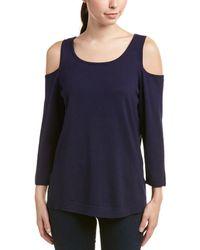 NYDJ Cold-shoulder Sweater - Black