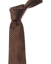 Canali Brown Dots Silk Tie