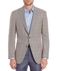 Saks Fifth Avenue - Collection By Samuelsohn Classic-fit Houndstooth Check Wool & Silk Sportcoat - Lyst