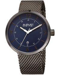 August Steiner - Men's Stainless Steel Mesh Watch - Lyst