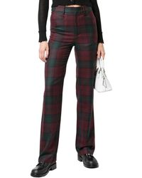 R13 Colleen Plaid Wool Trouser Pant - Multicolour