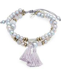 Chan Luu - Beads & Tassle Bracelet - Lyst