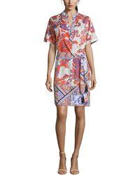 Robert Graham Silk-blend Midi Dress - Multicolor