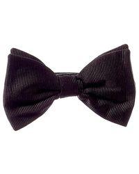 Reiss Otto Black Silk Bow Tie