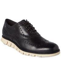 Cole Haan Zero Grand Wingtip Leather Oxford - Black