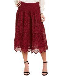 St. Roche Faith Midi Skirt - Red