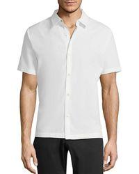 Theory - Mercerized Pique Hybrid Shirt - Lyst