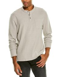 James Perse Reverse Jersey Henley - Grey