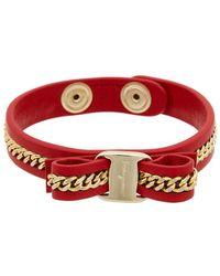 Ferragamo Vara Chain Bracelet - Red