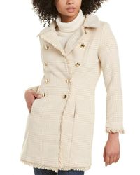 Sail To Sable Double-breasted Wool-blend Coat - Natural
