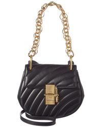 Chloé Drew Bijou Mini Quilted Leather Crossbody - Black