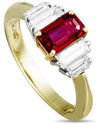 Heritage Tiffany & Co. Tiffany & Co. 18k & Platinum 1.87 Ct. Tw. Diamond & Ruby Ring - Metallic
