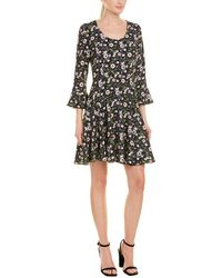Anna Sui Floating Flowers A-line Dress - Black