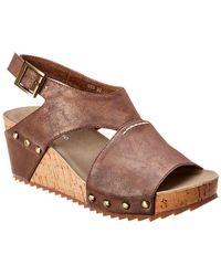 Antelope 585 Leather Wedge Sandal - Metallic