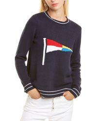 Sail To Sable Flag Intarsia Jumper - Blue