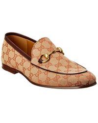 Gucci Jordaan GG Canvas Loafer - Brown