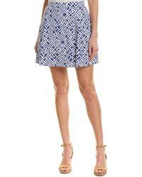 J.McLaughlin A-line Skirt - Blue