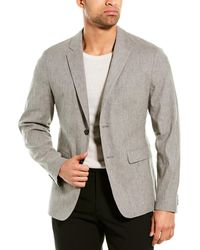 Theory Linen-blend Sportcoat - Grey
