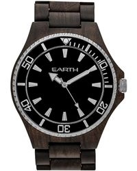 Earth Wood Unisex Centurion Watch - Black