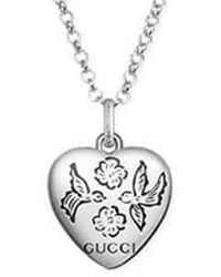 Gucci Blind For Love Silver Necklace - Metallic