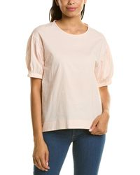 Peserico Puff Sleeve Blouse - Pink