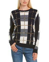 Autumn Cashmere Sequin Plaid Cashmere Jumper - Blue