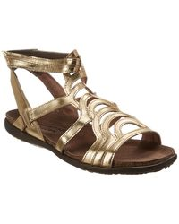 Naot - Sara Leather Flat Sandal - Lyst
