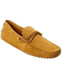 Tod's Tod?s Gommino Suede Loafer - Yellow