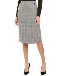 Reiss Alenna Wool-blend Skirt - Black