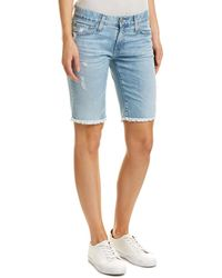 AG Jeans The Nikki 24 Years Relief Relaxed Skinny Short - Blue