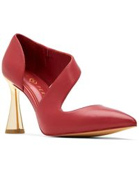 Katy Perry Swerve Leather Pump - Red