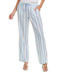 Vince Camuto Wistful Linen-blend Pant - Blue