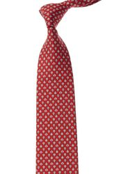 Ferragamo Red Lady Bug Silk Tie