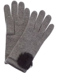 Portolano Grey Cashmere Gloves - Gray