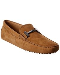 Tod's Tod?s City Gommino Suede Loafer - Brown