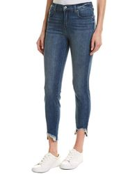 7 For All Mankind 7 For All Mankind Gwenevere Brdq High-rise Ankle Cut - Blue