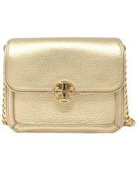 c36e6522ae46 Duet Micro Chain Leather Shoulder Bag - Metallic