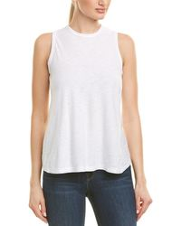 James Perse - Scoop Neck Wrap Back Tank - Lyst