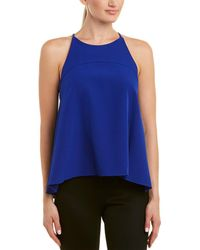 MILLY Flare Top - Blue
