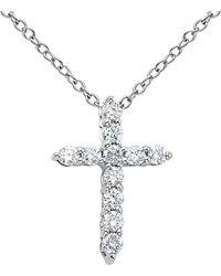 Diana M. Jewels - . Fine Jewelry 18k 2.20 Ct. Tw. Diamond Cross Necklace - Lyst