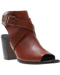 Wolverine - Piper Leather Open Toe Bootie - Lyst