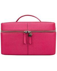 ILI Leather Beauty Train Case - Pink
