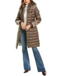 Laundry by Shelli Segal Pillow Collar Puffer Jacket - Brown