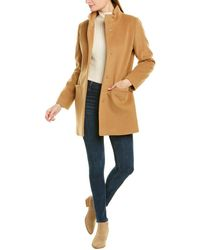 Cinzia Rocca Medium Wool-blend Coat - Natural