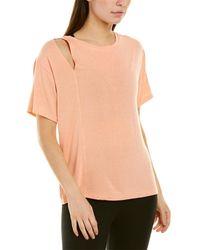 Koral Activewear Fluid Calma T-shirt - Pink